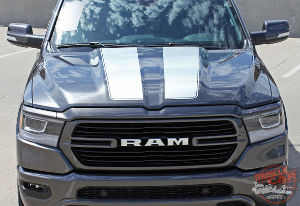 Front View of 2019 Ram 1500 Rally Graphics RAM RALLY Stripes 2019-2020