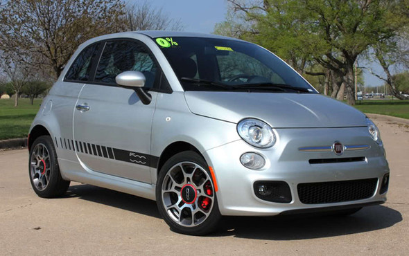 Profile of 500 STROBE ROCKER Fiat 500 Abarth Side Stripes 2012-2019