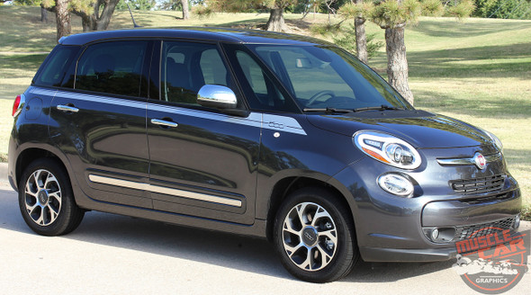 Profile View of Fiat 500L Upper Side Stripes SIDEKICK 2014 2015 2016 2017 2018
