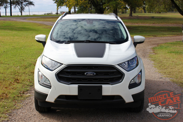 View of 2020 Ford EcoSport Hood Decals AMP HOOD 2018-2020