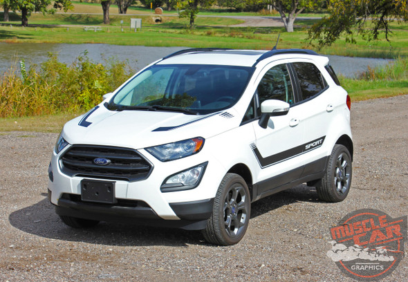 View of 2019 Ford EcoSport Vinyl Graphics FLYOVER KIT 2018 2019 2020