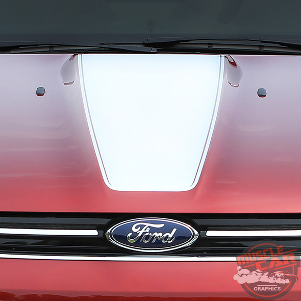 View of Ford Escape Hood Stripes CAPTURE HOOD 2013-2016