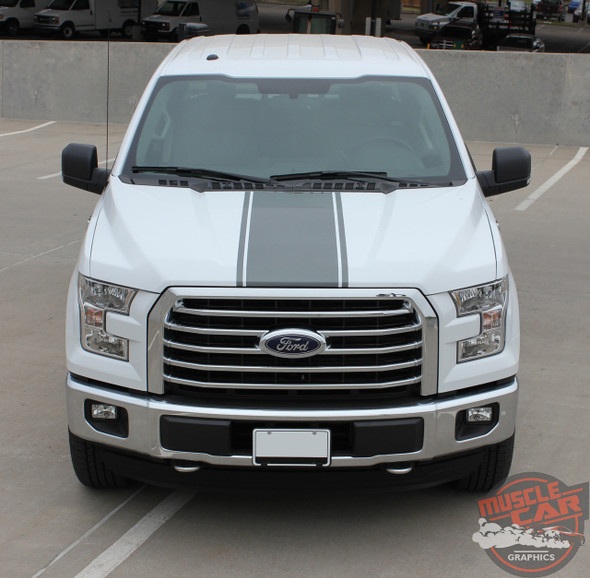 Front View of 2016 Ford F150 Stripe Package 150 CENTER STRIPE 2015-2017