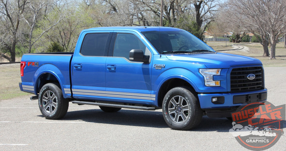 Close up view of 2018 Ford F150 Decals 15 150 ROCKER 2 2015-2019 2020