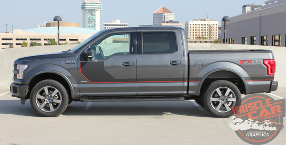 Profile view of 2016 Ford F150 Graphics SIDELINE 2015-2018 2019 2020