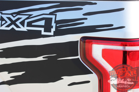 Close View of Ford F150 Pinstriping Ideas ROUTE RIP 2015 2016 2017 2018 2019 2020