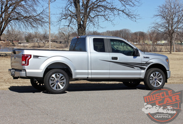 Side View of 2018 Ford F150 Graphics Package APOLLO 2015-2019 2020