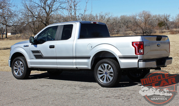 View of 2019 Ford F150 Stripe Package ELIMINATOR 2015-2020