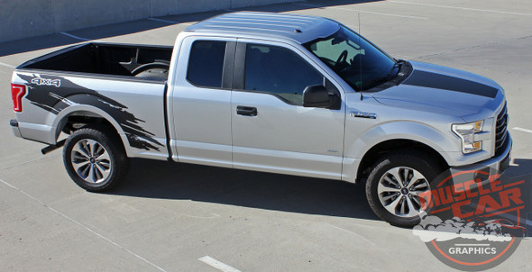 Passenger side view of 2018 Ford Truck Stripes TORN 2015-2018 2019 2020