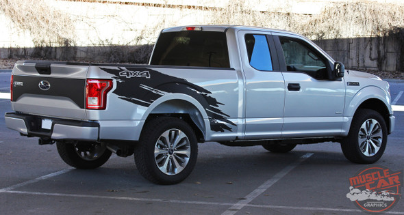 Passenger side view of 2017 Ford F150 Graphics Package TORN 2015 2016-2018 2019 2020