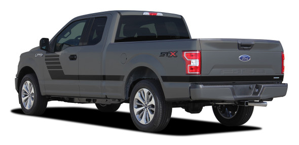 Rear View of 2019 Ford F150 Vinyl Graphics LEADFOOT 2015-2020