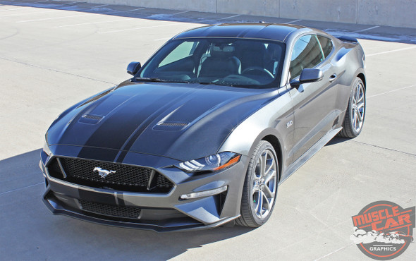 Side view of 2018-2019 Ford Mustang Convertible Racing Stripe EURO RALLY