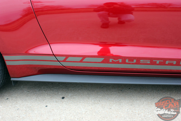 Profile view of 2017 Ford Mustang Stripes Kit HASTE 2015 2016 2017 2018