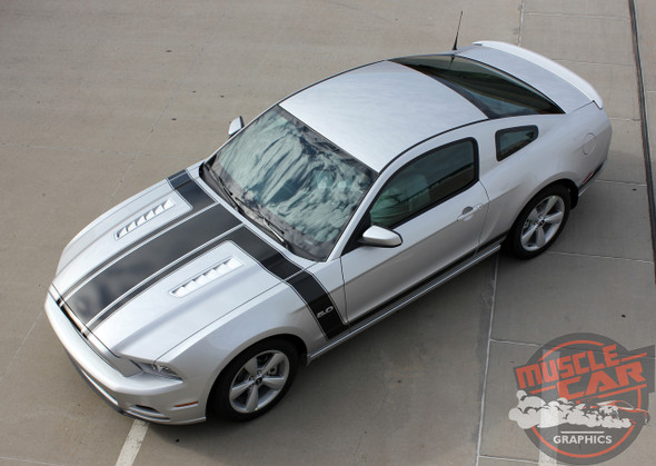 2013 Ford Mustang Side Hood Stripes PRIME 1 2013-2014