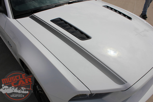 Top view of 2014 Ford Mustang GT CS Decals CALI California EDITION 2013-2014 Digital Print Vinyl