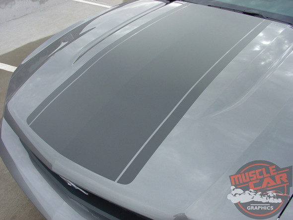 Top Hood View of 2012 Ford Mustang GT Racing Stripes PONY CENTER 2010 2011