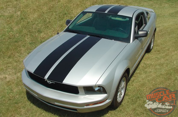 View of 2005-2009 Ford Mustang Dual Racing Stripes WILDSTANG KITtripes Kit 2005 2006 2007 2008 2009