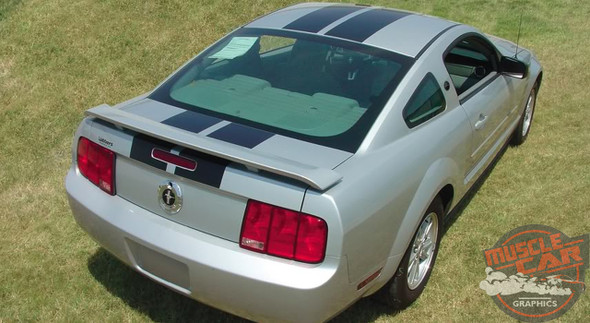 View of 2005-2009 Dual Racing Stripes for Ford Mustang WILDSTANG KIT