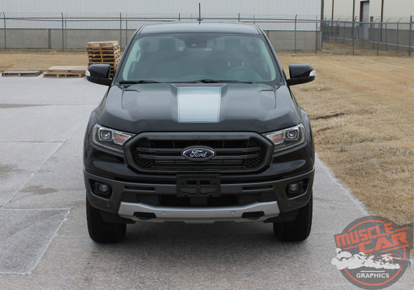 Hood of 2019 Ford Ranger Hood Stripes VIM HOOD KIT 2019-2020 2021