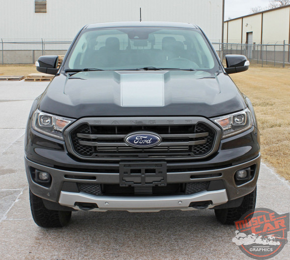 Hood of 2019 Ford Ranger Hood Decals VIM HOOD STRIPES 2019 2020 2021