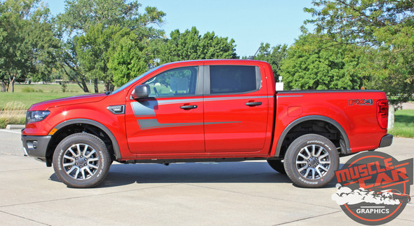 2019 Ford Ranger Door Stripes STRIKER SIDE KIT 2020 2021 2019