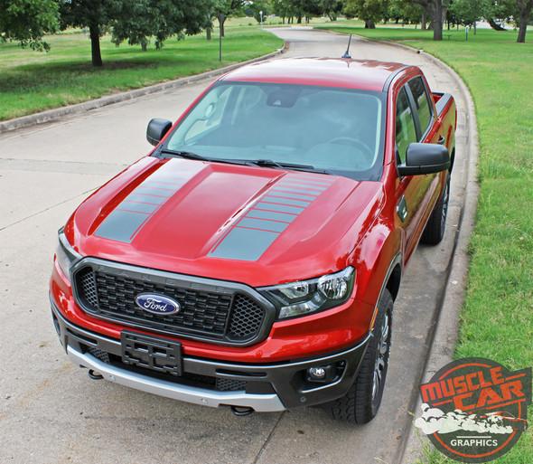 2019 Ford Ranger Hood Strobe Stripes NOMAD HOOD 2019-2020 2021