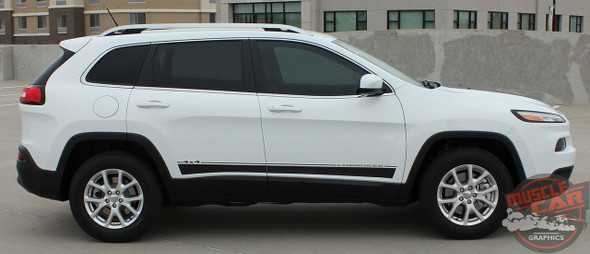 Side View of 2019 Jeep Cherokee Graphics BRAVE 2014-2017 2018 2019 2020 2021