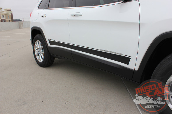Close-up View of 2019 Jeep Cherokee Graphics BRAVE 2014-2017 2018 2019 2020
