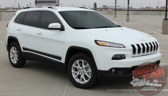 Side View of 2019 Jeep Cherokee Stripes BRAVE 2014-2019 2020