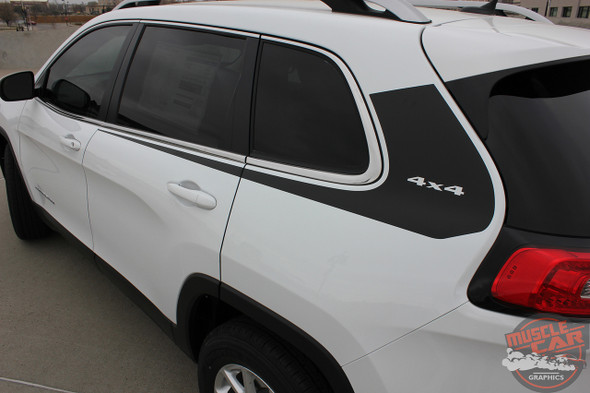 Profile of 2018 Jeep Cherokee Body Graphics WARRIOR 2014-2020 2021