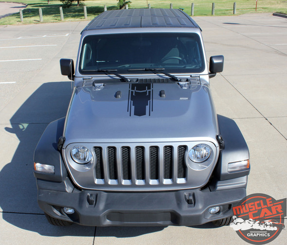 Side View of 2019 Wrangler Side Stripes MOJAVE SIDE KIT 2018-2020 2021