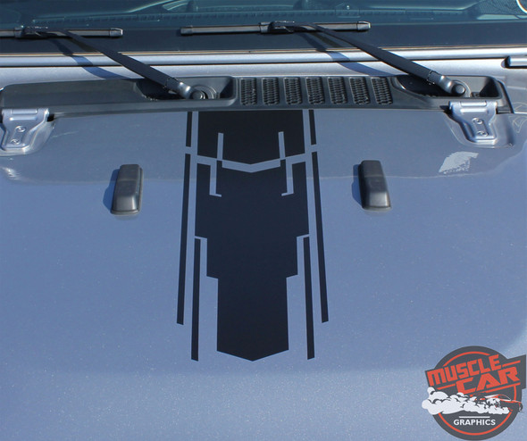 Hood View of 2019 Wrangler Graphics MOJAVE and ACCENTS 2018-2020 2021