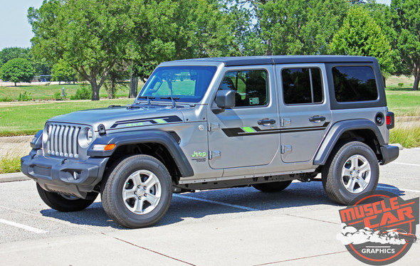 Front View of 2017 Jeep Wrangler Graphics BYPASS and ACCENTS 2018-2020 2021