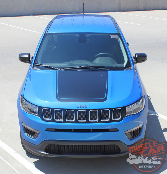 Front view of 2019 Jeep Compass Hood Graphics BEARING HOOD 2017-2020