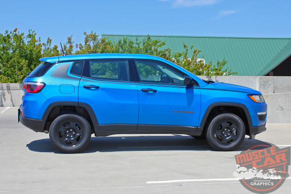 Side View of 2018 Jeep Compass Stripes ALTITUDE 2017 2018 2019 2020