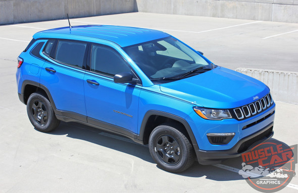 Side View of 2019 Jeep Compass Decals ALTITUDE 2017 2018 2019 2020