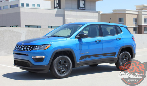 Side View of 2019 Jeep Compass Stripes COURSE ROCKER 2017-2020