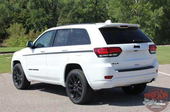 Side View of White 2018 Grand Cherokee Decals PATHWAY 2011-2018 2019 2020 2021