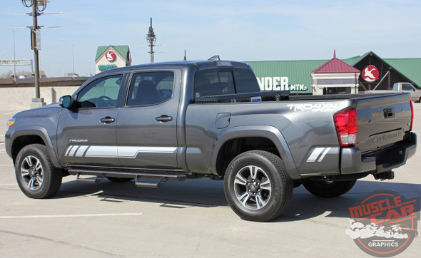 Side View of Toyota Tacoma Side Decals CORE 2015-2020
