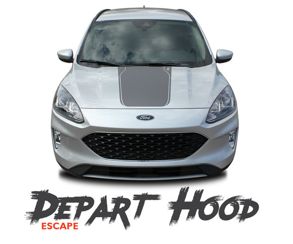 Ford Escape DEPART Center Hood Vinyl Graphics Decal Stripe Kit for 2020 2021