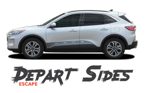 Ford Escape DEPART SIDES Lower Body Line Vinyl Graphics Decal Stripe Kit for 2020 2021