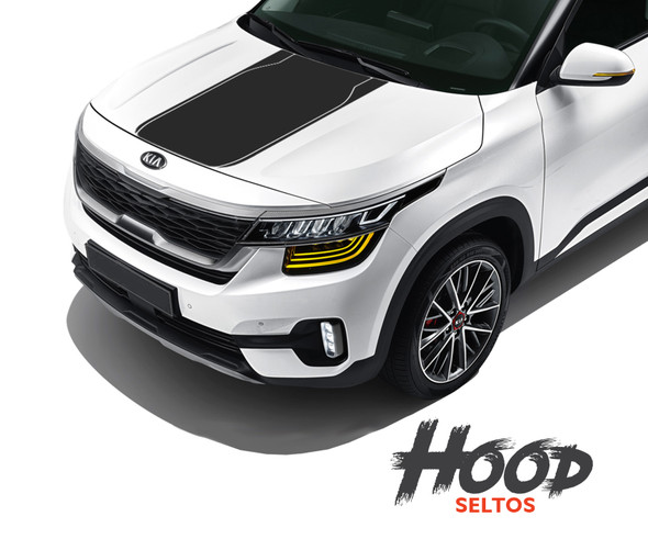 2020-2021 Kia Seltos Hood Stripes SELTOS HOOD KIT