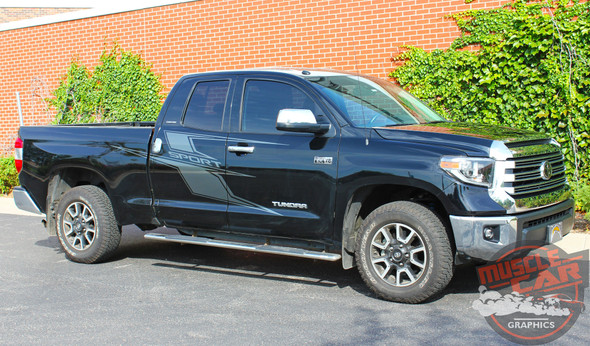 Toyota Tundra AXIS Side Door Decals Body Vinyl Graphics Stripe Striping Decal Kit for 2014 2015 2016 2017 2018 2019 2020 2021