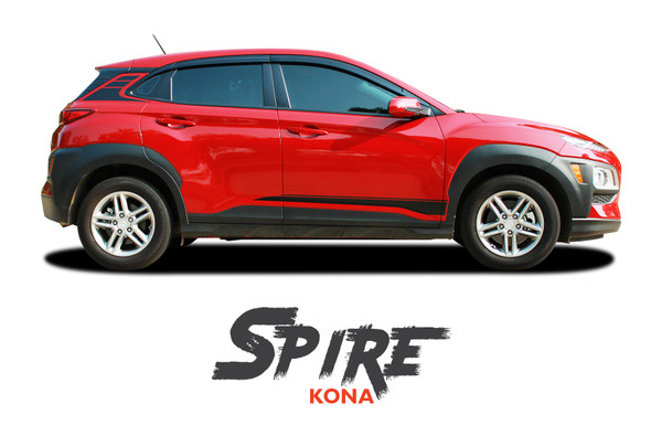 Hyundai Kona SPIRE Stripe Vinyl Graphic Stripes Decal Kit for 2018 2019 2020 2021