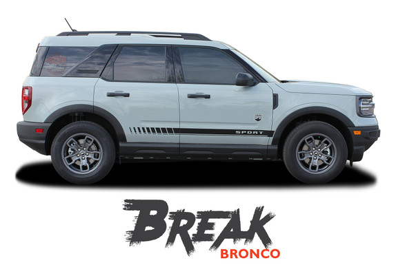 2021 2022 Ford Bronco Sport Lower Body Door Decals BREAK Stripes Vinyl Graphics Kit