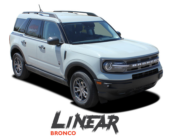 2021 2022 Ford Bronco Sport Upper Body Door Decals LINEAR Stripes Vinyl Graphics Kit