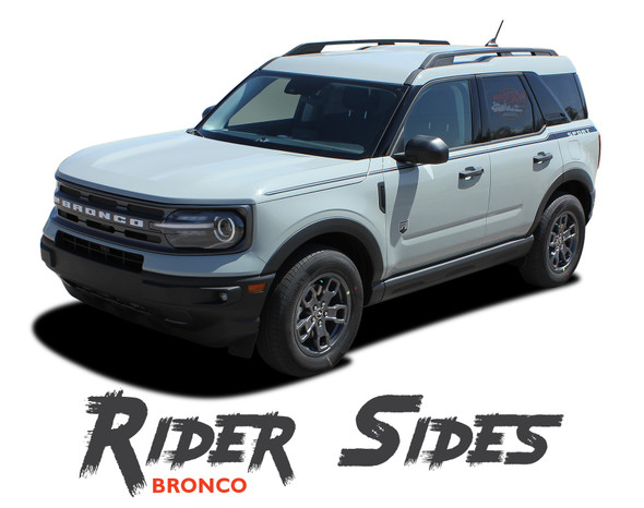 2021 2022 Ford Bronco Sport Upper Door Side Decals RIDER Stripes Vinyl Graphics Kit