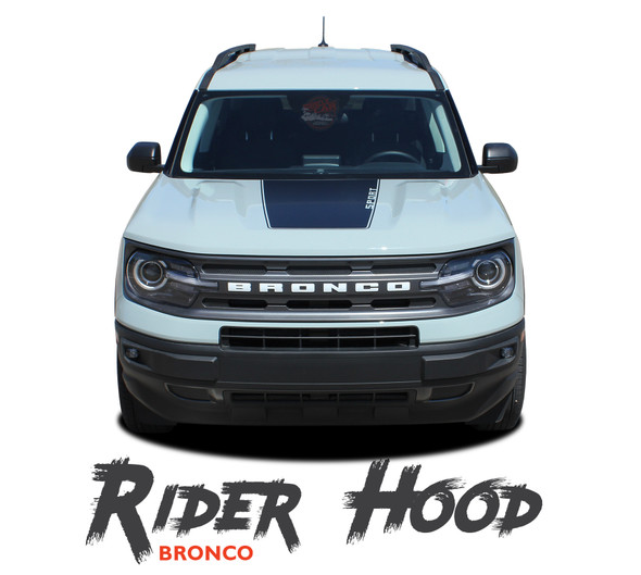 2021 2022 Ford Bronco Sport Hood Decals RIDER HOOD Stripes Vinyl Graphics Kit