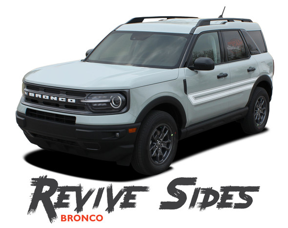 2021 2022 Ford Bronco Sport Side Door Decals REVIVE Stripes Vinyl Graphics Kit