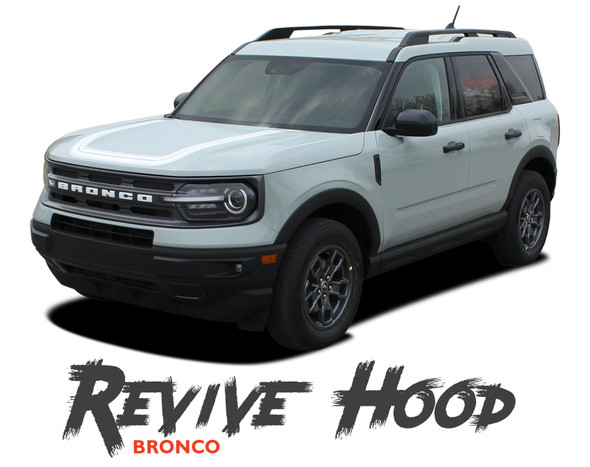 2021 2022 Ford Bronco Sport Hood Decals REVIVE HOOD Stripes Vinyl Graphics Kit